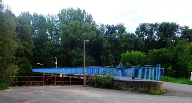 Pedestrian Bridge, Saale River, Goshwitz, Jena Germany