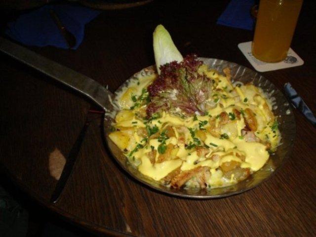 Birnen Phanne, Stilbruch, Jena, Germany, pork, potatoes, pear