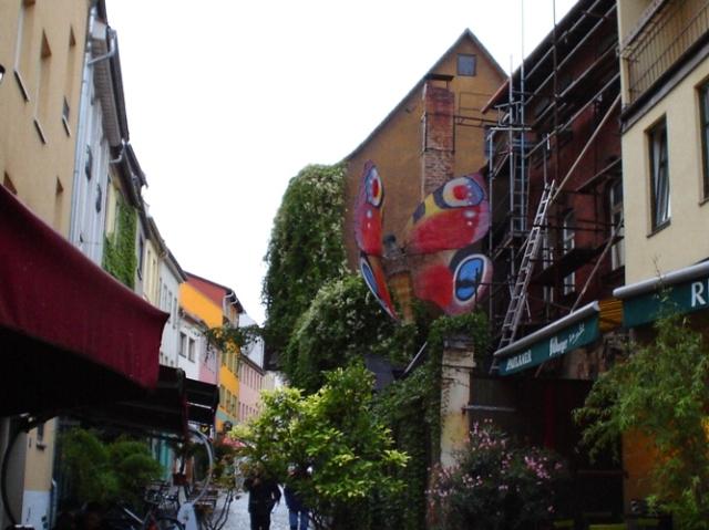 Wagnergasse, Jena, Stilbruch, Favorite Restaurant, Butterfly Sculpture