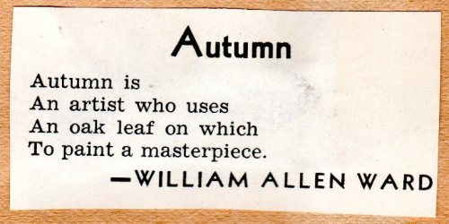 William Allen Ward, Autumn, Poetry, Fall Poetry
