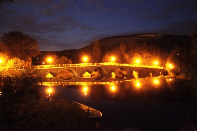 Night Bridge Pictures, Burgauer Bridge, Jena, Germany