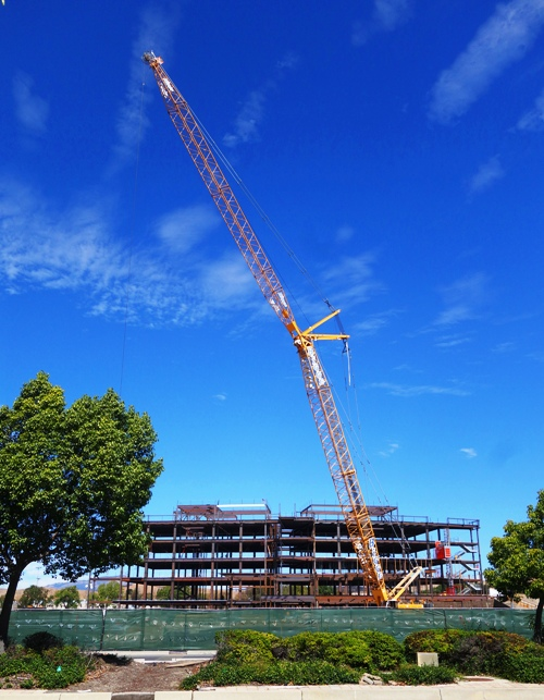 East County Hall of Justice, Alameda County, California, Justice Center, Court Rooms, Large Crane, Construction