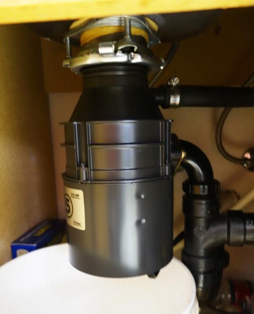 Badger Garbage Disposal, Insinkerator, Plumbing Job Complete
