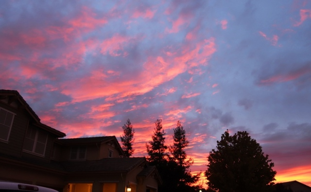 Patterson, California, Sunset, Colorful Sky, Cloudy Sunset, Silhouette