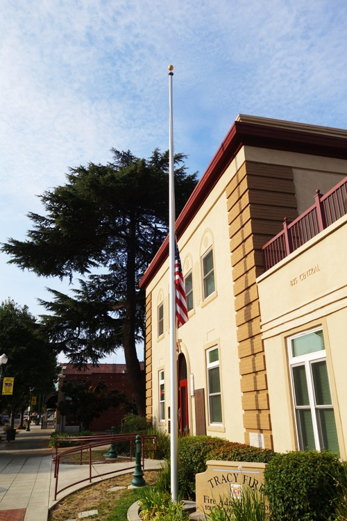 half-staff, Flag, Fire Department, September 11