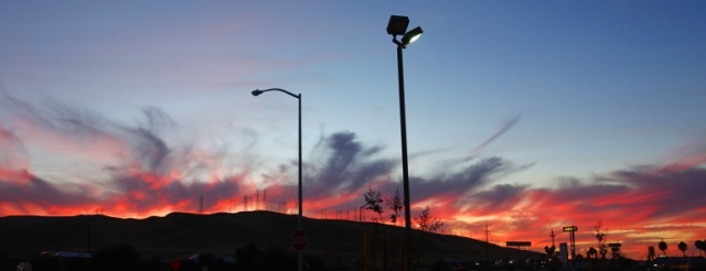 Sunset, Patterson Hills, Westley, Central Valley, Red Sky