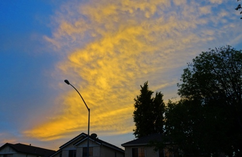 Colorful Sky, Yellow Clouds, Weather