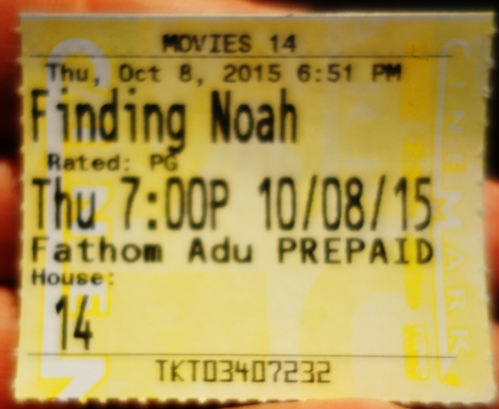 Finding Noah Movie, Steve Rudd, Movie Event. Fathom, Ararat