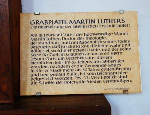 Martin Luther, Grave Plate, Jena, Germany, St. Michael's Church, Reformation Movement