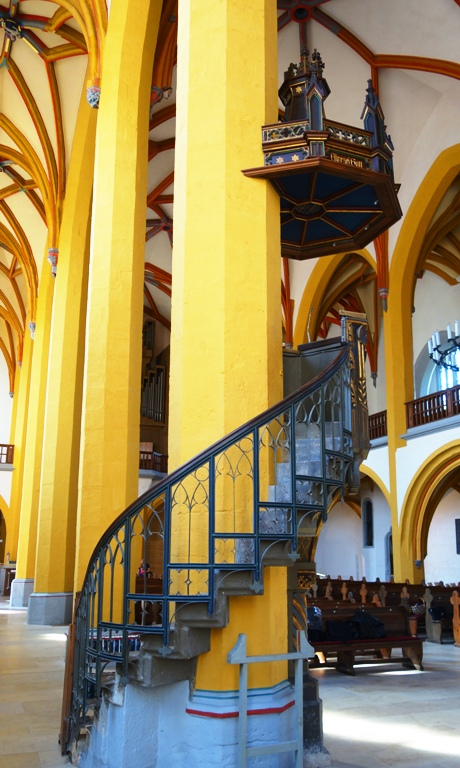 Pulpit Stairs, St. Michael's Church, Jena, Germany, Martin Luther