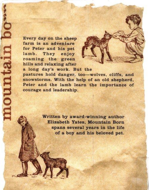 Elizabeth Yates, Nora S. Unwin, Newbery Books, Rocky Mountains, Shepherd, Lamb