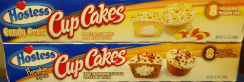 Hostess Snack Cakes, Limited Edition, Pumpkin Spice CupCakes, Candy Corn CupCakes