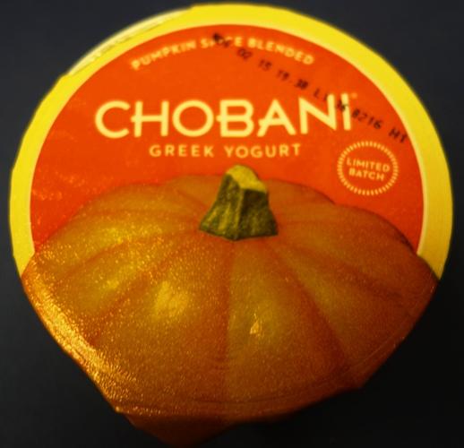 Chobani Pumpkin Spice, Yogurt, Flavored Yogurt, Seasonal Items
