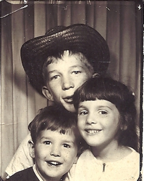 Kids with Uncle, Family, Photo Booth, Throwback Thursday