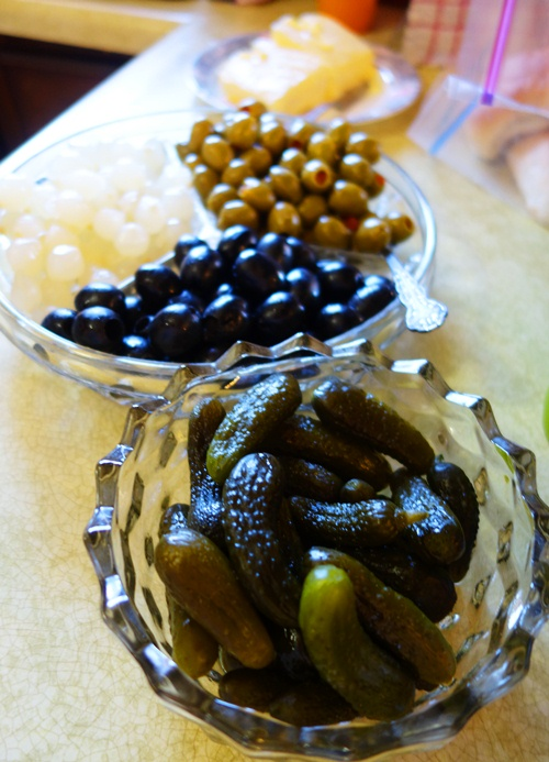 Pickles, Olives, Onions, Thanksgiving Feast