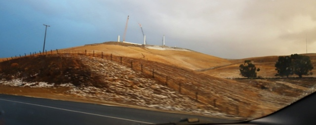 Altamont, Hail, Thunderstorms, Commute, Windmills