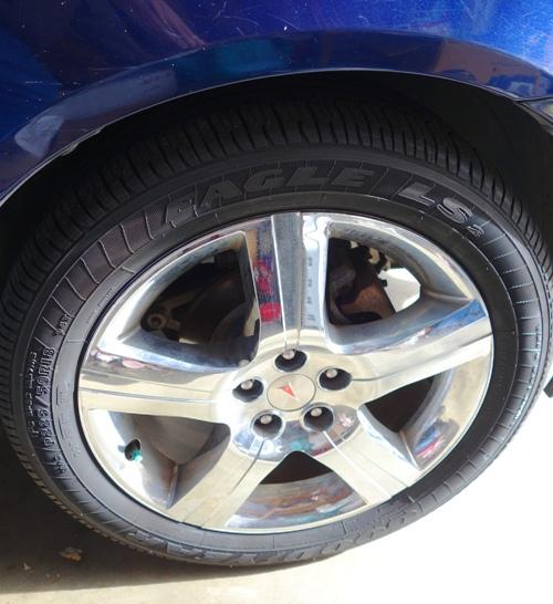 Goodyear tires, new tires, Pontiac G6 GXP