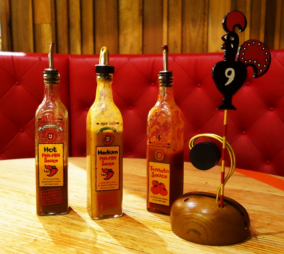 Nando's Table Setting, Peri-Peri Sauce, Cockerel,