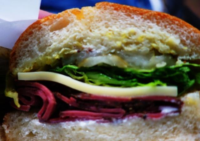 Sandwich, Pastrami and Swiss, Pre-Flight dinner