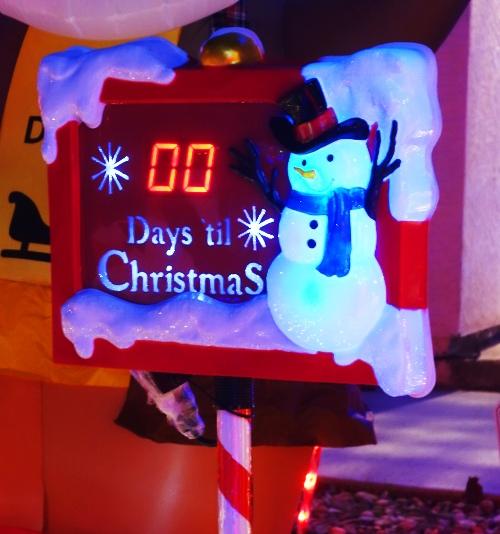 Christmas Tracker, Days till Christmas, Snowman