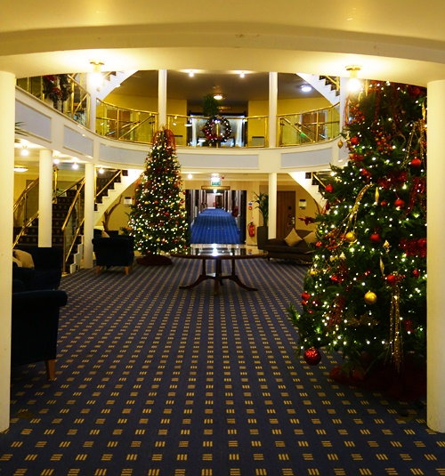 Christmas Trees, Holiday Decorations, Hinkley, England, Hotel, Holiday