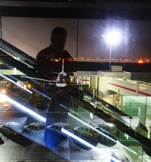 Boarding Flight, British Airways, Heathrow, Reflections
