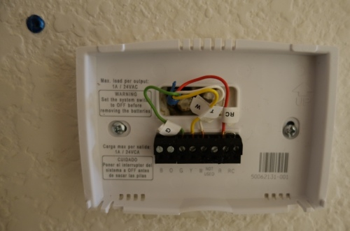 Thermostat, Wiring, Home repair. Heating and Cooling