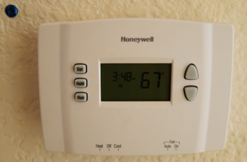 New Thermostat, Home Repair, Heating and Cooling, Honeywell