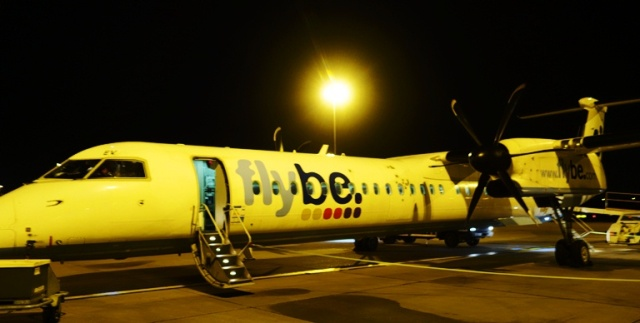 Flybe, Airplane, Prop Plane, Glasgow to Birmingham