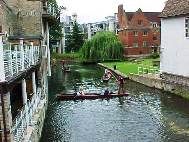 Punting, Cam River, Cambridge, boating, punt