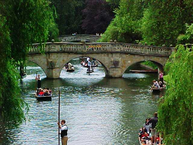 Cambridge, Bridges, Punters, Cambridge University, River Cam