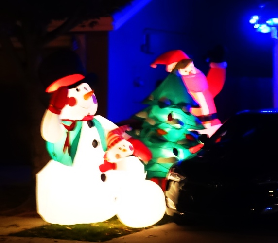 Blow Up Santa, Christmas Decorations, December, Christmas