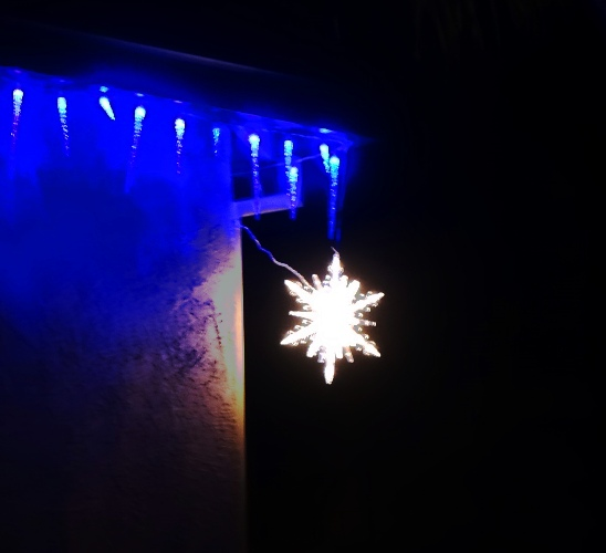 Star Light, Christmas Lights, December, Christmas