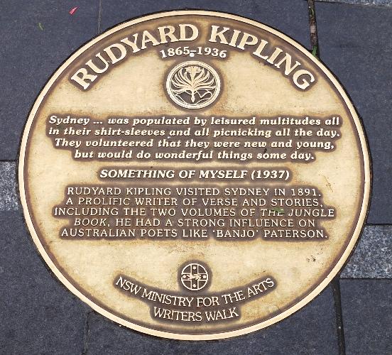 Rudyard Kipling, Sydney Writers Walk, Literature, Something of Myself