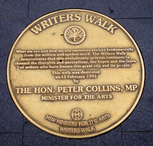 Writers Walk, Sydney, Harbour, Peter Collins, Honor Plaques, literature