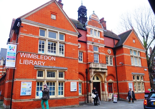 Wimbeldon library, Brick Building, Library, English Library