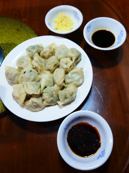 Dumplings, Vinegar, Peppers, Garlic, Cabbage Dumplings