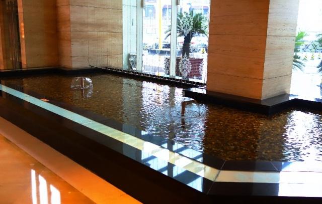 Goldfish Pond, Hotel Lobby, goldfish, koi pond
