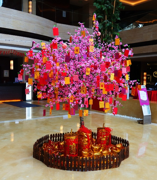 Chinese New Year, New Year Tree, Paper Cuttings, Red and Yellow, China