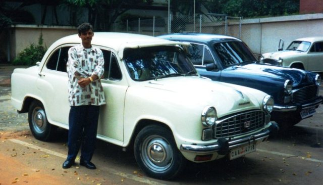 Bangalore, India, 1990's, Old Car, Car and Driver