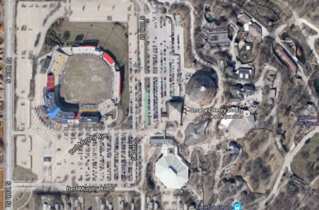 Google Maps, Rosenblatt Stadium, Omaha, Nebraska, Henry Doorly Zoo
