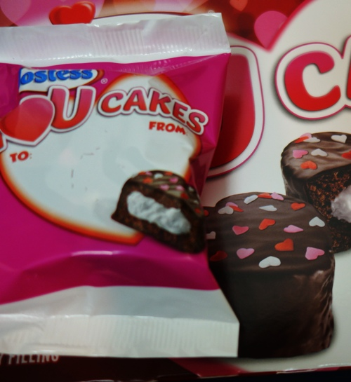 I Love You cakes, Hostess, sprinkles, Valentine, To and From