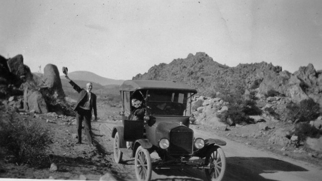 Model T Ford, Touring the West, Classic Car, Model T in mountains