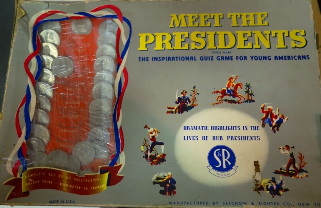 Meet the Presidents, Game, Board Game, Selchow and Richter