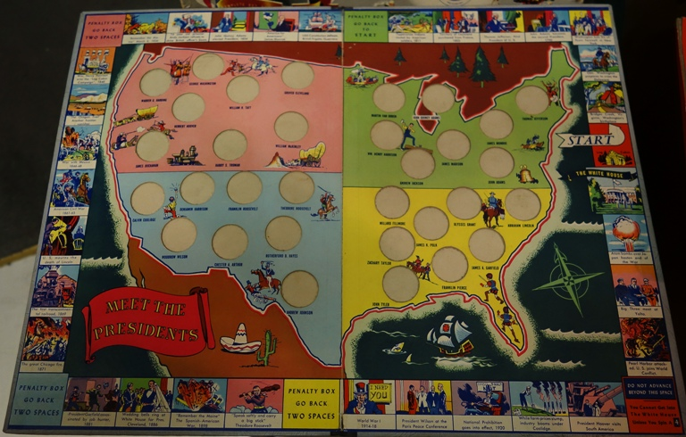 meet the presidents board game 1965