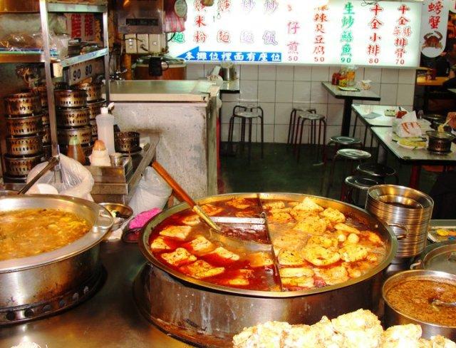 Stinky Tofu, Shilin night market, Taiwain, Taepei