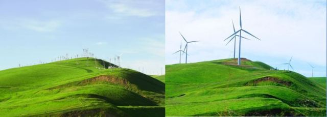 Altamont hills, windmills, calfornia, clean energy, large windmills