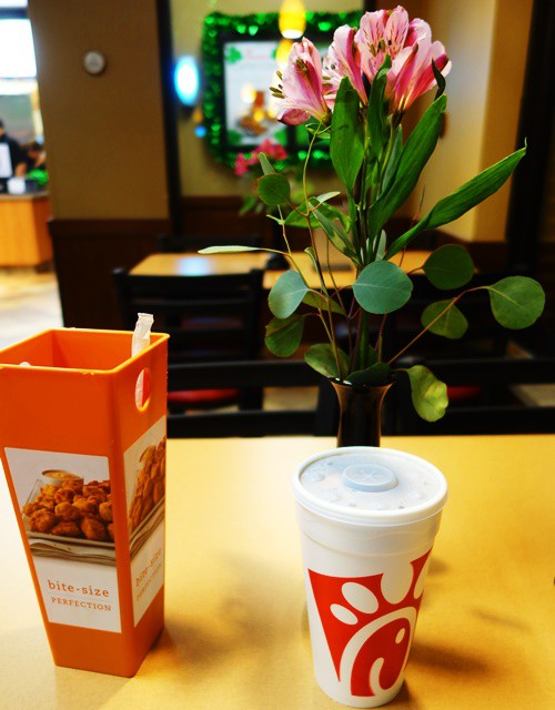 Table Setting, Chick-fil-A, Dallas, Fast Food
