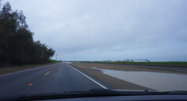 Ditch, Water in Ditch, California Rain, Drought Buster