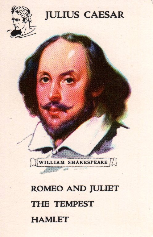 Authors Card Game - William Shakespeare - Whitman - Anne Wales Abbott - Julius Caesar